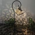Фонарь уличній Солнечная Лейка  на солнечной батарее кованый, теплый белый.