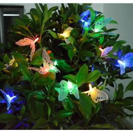 Вулична гірлянда на сонячній батареї пурхають Led метелики 4.85м, 20 шт