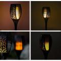 Вуличний ліхтар факел (мерехтливий вогонь) на сонячній батареї, 96 led, водонепроникний