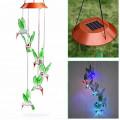 Фонарь садовый Kолибри на солнечной батарее, ветряной колокольчик, IP67