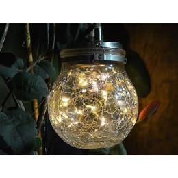 Уличный фонарь сказочная лампа на солнечной батарее, светодиодный, теплый белый, IP67