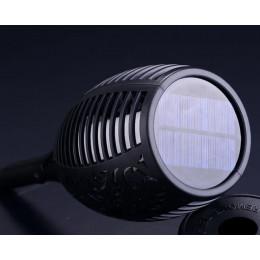 Садовый фонарь на солнечной батарее факел мерцающий огонь( имитация), водонепроницаемый, 96 led