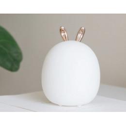 Ночник кролик светильник светодиодный силиконовый 3 степени яркости