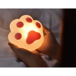 Ночник кошачья лапка светильник с регулировкой яркости